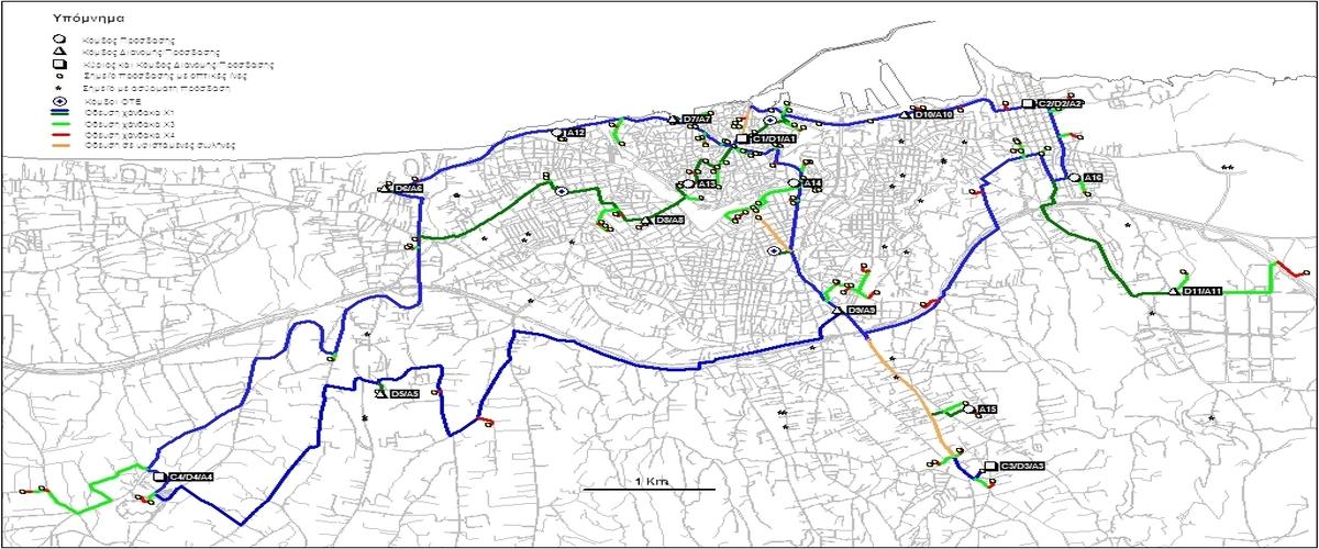 Metropolitan optical fiber network of Heraklion municipality and Nea Alikarnassos municipality